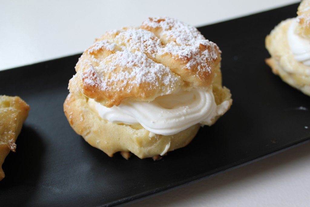 cream puffs with light vanilla cream filling